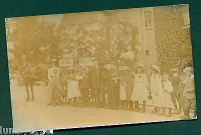 JUVENILE FORESTERS FLOAT ,EVENT BY J GOODWIN,TUNBRIDGE WELLS, vintage postcard