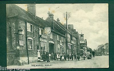 THE WHEEL REFRESHMENT ROOMS,BOTLEY,vintage postcard