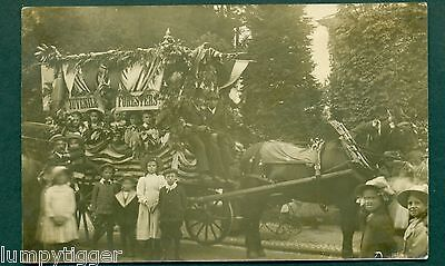 TUNBRIDGE WELLS,CARNIVAL EVENT,JUVENILE FORESTERS FLOAT, vintage postcard