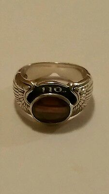 Harley Davidson Ring Sterling Silver Hologram by MOD 110th Anniversary Sz 6