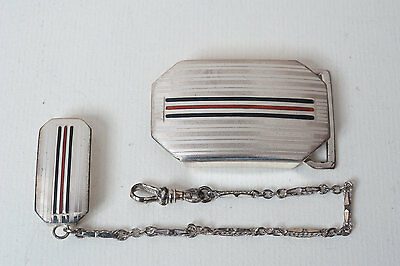 Belt buckle silver sterling - boucle ceinture argent - with accessorie