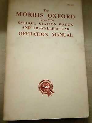 The Morris Oxford operation manual