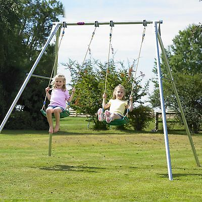 Tp Giant Double Metal Swing Set - Collection Only