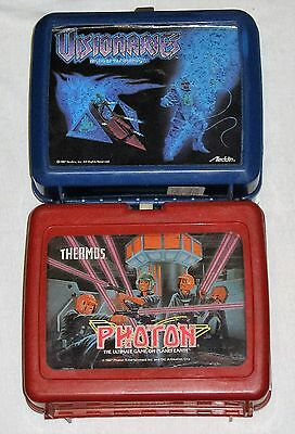 Visionaries & Photon Lunchboxes - Vintage 1987 - Used Plastic