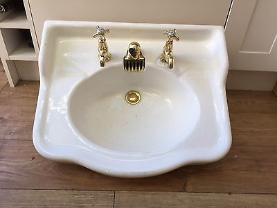 Antique French Sink. With Taps And Pop Up Waste.