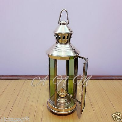 Antique Brass Ship Oil Lamp Hanging Vintage Home Collectible Decorative