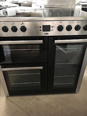 Beko BDVC90X 90cm Electric Ceramic Range Cooker in Stainless Steel