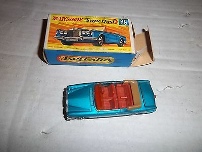 boxed matchbox superfast rolls royce silver shodow no69