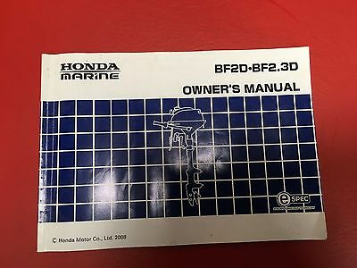 Honda Outboard Motor Owners Manual In ENGLISH !