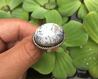 Men's Afghan Antique Ring Near Eastern White Stone Stunning Islamic Vintage 8.5
