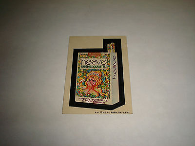 1973 Topps Wacky Packages Original Trading Card Series 4 HEAVE CIGARETTES