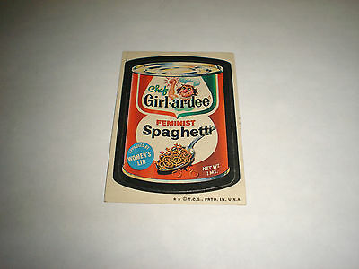 1973 Topps Wacky Packages Original Trading Card Series 4 Chef Girl-ar-Dee
