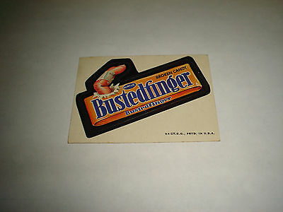 1973 1973-74 Topps Wacky Packages Original Trading Card Series 3 Bustedfinger