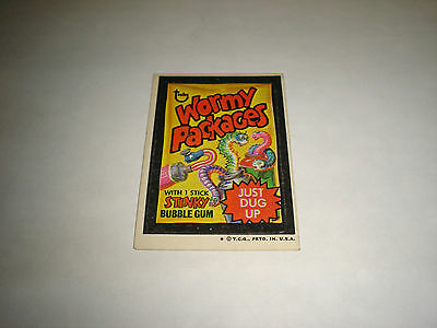 1973 Topps Wacky Packages Original Trading Card Series 4 Wormy Packages