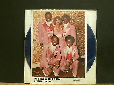 HERB REED   THE PLATTERES    LP  Blue vinyl  signed by Herb & the band  RARE !