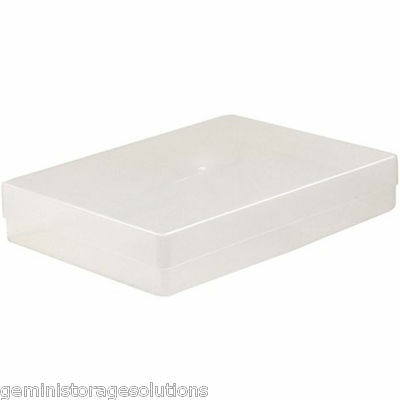 NEW A4 CLEAR PLASTIC PAPER STORAGE BOX HOLDER 1 2 5 Or 10  BOXES