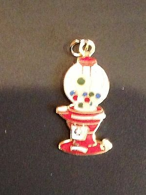 Enameled Columbia Gumball  Pendent / Charm