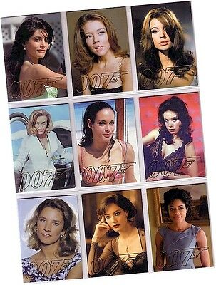 """James Bond Autographs & Relics: 9 Card """"Gold Gallery"""" Chase Set GG39-GG47 - 2013"""