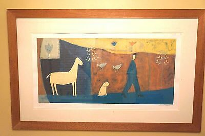 Large Annora Spence framed signed limited edition print 'White Horse'