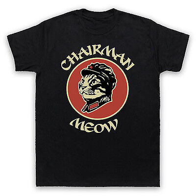 Funny Kitty Cat Chairman Meow T-Shirt Unofficial Mens Ladies Kids Sizes Colours