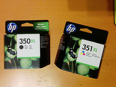 Pack de 2 cartuchos de tinta originales: HP 350XL y 351XL