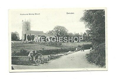 Wiltshire:swindon: Rodbourne Cheney Church Old Postcard Tricycle/penny Farthing?
