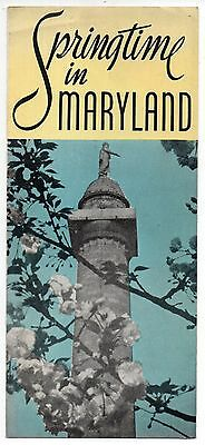 Springtime in Maryland, Vintage Travel Brochure, Dec