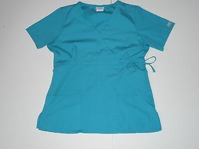 Fundamentals Solid Green Scrub Medical Nursing Uniform Top Size Medium M