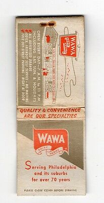 WaWa Food Market, Dairy Farms, Vintage Matchbook Cover May16