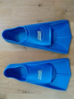 Zoggs Swimming Training Fins / Flippers size 35-36 EU - Blue