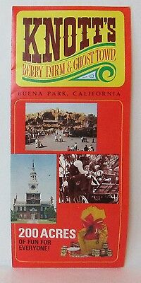 Knotts Berry Farm & Ghost Town Buena Park California Vintage Travel Brochure