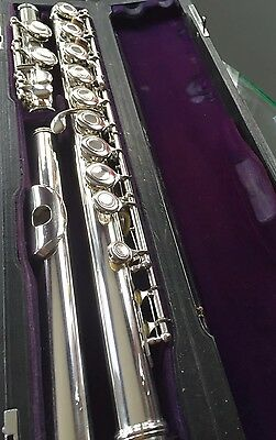 Sankyo Silversonic Solid Silver Open-Hole Flute With C-Foot