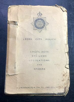 C.1960s~LOCAL ACTS, BYE-LAWS, REGULATIONS & ORDERS~OBSOLETE LEEDS CITY POLICE