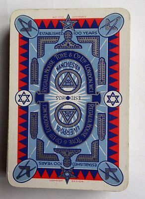 Unusual Vintage Toye & Co Masonic Specialists Advertising Playing Cards Boxed