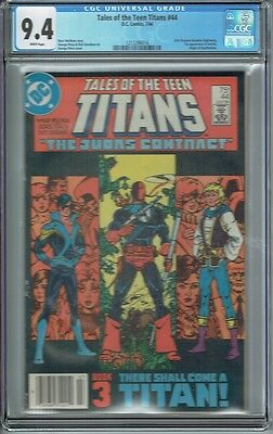 Cgc 9.4 New Teen Titans #44 White Pages 1St Appearance Of Nightwing & Jericho
