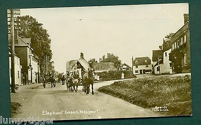 ELEPHANT GREEN,NEWPORT WITH HORSE DRAWN TRAFFIC,vintage postcard