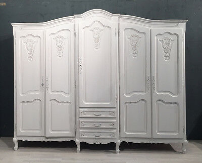 French Wardrobe / French Armoire / Shabby Chic  (BR53)