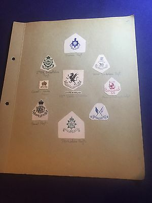 Old Page Of Crests & Monograms Military