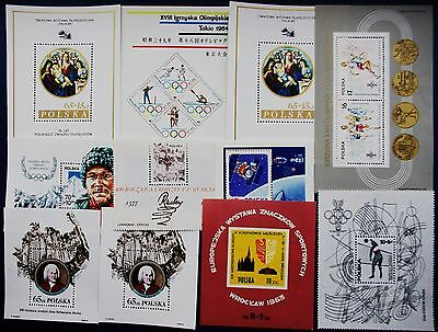 Poland - Collection of 11 Bloks - MNH