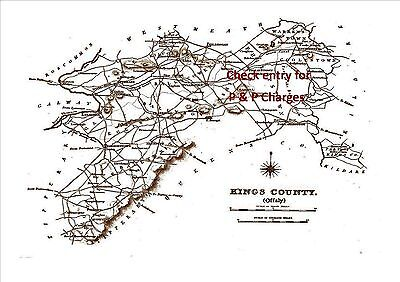 Map of Kings County, Ireland, dated 1840.