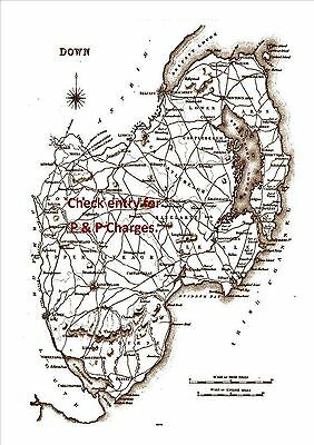 Map of County Down, Ireland, dated 1840.