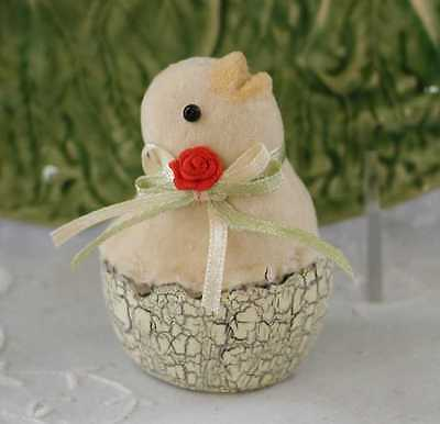 ~K.D. Vintage~ Sweet ~VELVETEEN HATCHING BABY CHICK~ Retired and NWT!