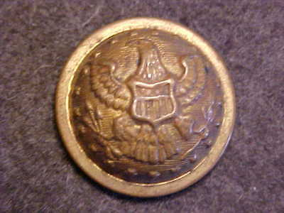 Old 1866 - 1897 Domed Brass Staff Officer Eagle 3/4 Uniform Button Goodwin`s