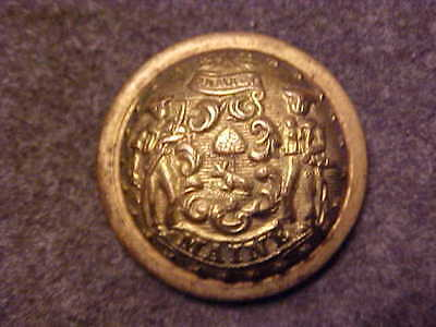 Rare Maine Brass State Seal Militia 7/8 Domed Button Marked Mc Lilley & Co
