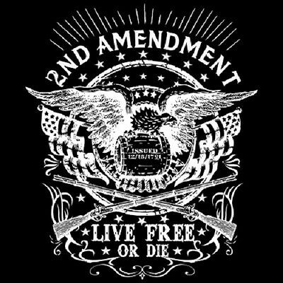 Live Free  2nd Amendment  Tshirt   Sizes/Colors