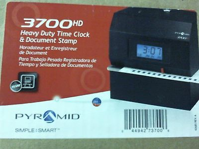 pyramid 3700 hd time clock and document stamp employee time card