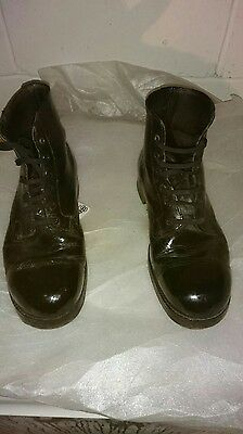 British Army Black Ammo Boots Size 10L Used