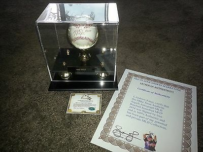 Mike Trout Anaheim Angels MLB AUTOGRAPH BASEBALL INSCRIBED MVP 2014 & CASE