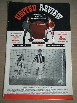 1962 /1963 MANCHESTER UNITED v CHELSEA  F.A. CUP FOOTBALPROGRAMME