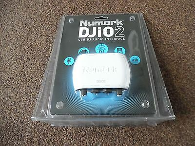 Numark DJiO2 USB DJ audio interface / used once for 5 mins from new / Numark